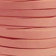 Leather Cord Flat 10x2mm Pink 5m spool - each