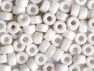 Crow Bead - Glass Opaque Luster White 9mm - bag