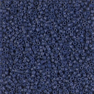 Miyuki Delica Seed Bead size 11/0 Navy Blue Opaque Dyed Duracoat DB 2143 - vial