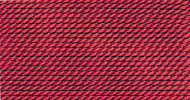 Griffin Nylon Polythread Garnet Size 4 0.60mm 2 meter card