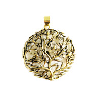 Tree Of Life Pendant 50mm Brass - each