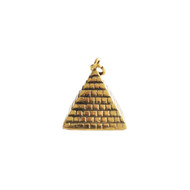 Pyramid Pendant 20mmx20mm Brass - each