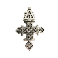 Ethiopian Cross Of Axum 80mm x 58mm Articulating Silver Plated - each