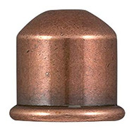 TierraCast Cupola 10mm Cord End, Antiqued Copper Plate 01-0222-18 - each (68482)