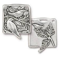 TierraCast Botanical Birds Pendant, Antiqued Silver Plate 94-2523-12 - each