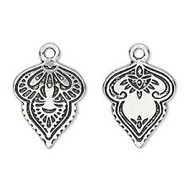 TierraCast Mehndi Charm, Antiqued Silver Plate 94-2522-12 - each (68489)