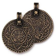 TierraCast Eight Signs Pendant, Oxidized Brass Plate,  94-2529-27 - each