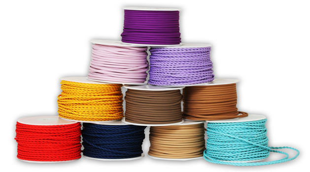 Lamp Cloth covered wire