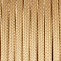 Peach Yellow - Flat Cloth Covered Wire (250 Ft / Roll)