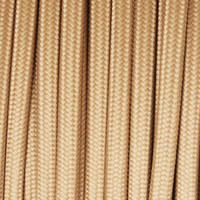 Bisque - Flat Cloth Covered Wire (250 Ft / Roll)