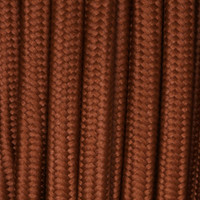 Burnt - Flat Cloth Covered Wire (250 Ft / Roll)