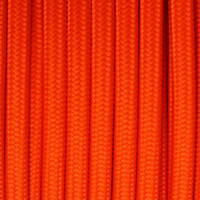 Orange Red - Flat Cloth Covered Wire (250 Ft / Roll)