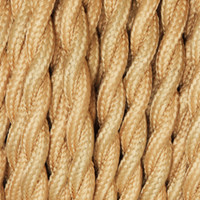Peach Yellow - Twisted Cloth Covered Wire (250 Ft / Roll)