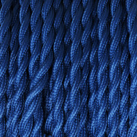 Medium Blue - Twisted Cloth Covered Wire (250 Ft / Roll)