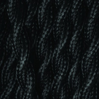 True Black - Twisted Cloth Covered Wire (250 Ft / Roll)