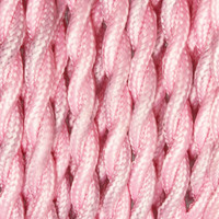 Baby Pink - Twisted Cloth Covered Wire (250 Ft / Roll)