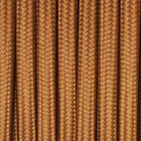 Copper - Flat Cloth Covered Wire (250 Ft / Roll)