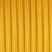 Gold - Flat Cloth Covered Wire (250 Ft / Roll)