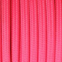 Deep Pink - Flat Cloth Covered Wire (250 Ft / Roll)
