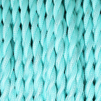 Sky Blue - Twisted Cloth Covered Wire (250 Ft / Roll)