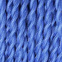 Royal Blue - Twisted Cloth Covered Wire (250 Ft / Roll)