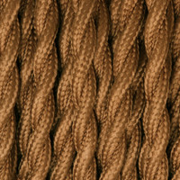 Bronze - Twisted Cloth Covered Wire (250 Ft / Roll)
