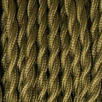 Olive Green - Twisted Cloth Covered Wire (250 Ft / Roll)