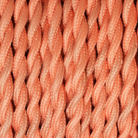 True Pink - Twisted Cloth Covered Wire (250 Ft / Roll)