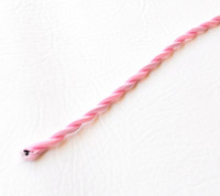 Baby Pink - Twisted Cloth Covered Wire (Per Foot)