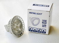 LED MR16, 5K, 6W, 12V AC/DC, 10 PACKS