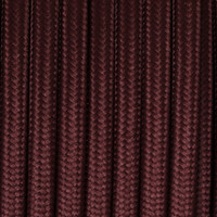 Dark Brown - Round Cloth Covered Wire (100 Ft / Roll)