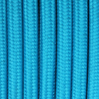 Deep Sky Blue - Round Cloth Covered Wire (100 Ft / Roll)