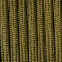 Dark Olive Green - Round Cloth Covered Wire (100 Ft / Roll)