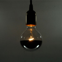 Silver Bowl Globe Light Bulb - G25 60 Watt
