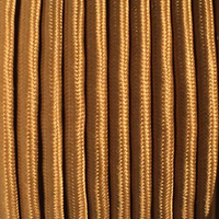Copper - Round Cloth Covered Wire (100 Ft / Roll)