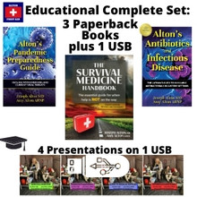 New 2021 addition! All 3 Paperback Books and 1 USB of our Four Educational Presentations.
