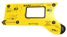 SAM Thorasite needle decompression insertion template