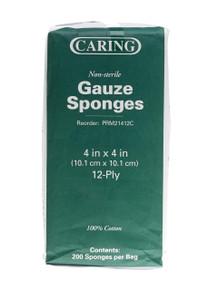 Gauze sponges 4x4 12-ply 200 count