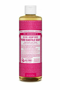 Pure-Castile Liquid Soap 473ml - Rose by Dr. Bronner's