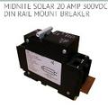 Midnite solar 20 amp 300 volt DIN rail mount breaker