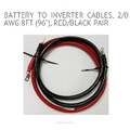 2/0 battery cables to inverter