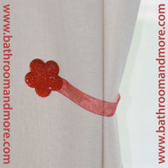 Red Flower Magnetic Tie Back