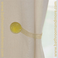 Gold round magnetic curtain tie back