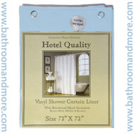 "Lt. Blue Hotel Weight 8 Gauge Vinyl Shower Curtain Liner 72""x72"""