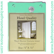 "Jade Hotel Weight 8 Gauge Vinyl Shower Curtain Liner 72""x72"""