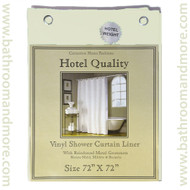 "Bone Hotel Weight 8 Gauge Vinyl Shower Curtain Liner 72""x72"""