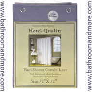 "Slate Blue Hotel Weight 8 Gauge Vinyl Shower Curtain Liner 72""x72"""