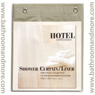 "Linen Hotel Weight 8 Gauge Vinyl Shower Curtain Liner 72""x72"""
