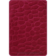 Brick Red Memory Foam Bath Mat Set : Non Skid, Day Spa, Home Dynamix