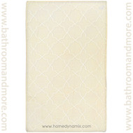 Ivory Spa Retreat Memory Foam Bath Mat : Non Skid, Microfiber, Trellis Design
